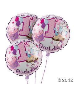 1ST Birthday Cupcake Foil Balloons