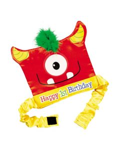 1st Birthday Mini Monster Party Hat