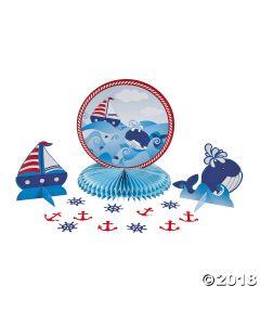 1ST Birthday Nautical Sailor Tabletop Decor Kit