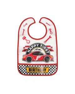 1st Birthday Race Car Bib