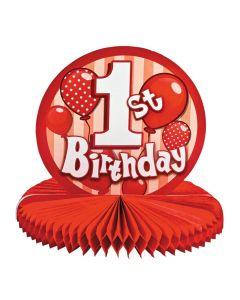 1st Birthday Red Centerpiece