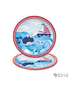 1ST Birthday Sailor Paper Dinner Plates