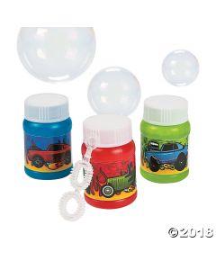 24 Mini Race Car Bubble Bottles