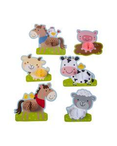 3D Farm Party Tissue Cutouts