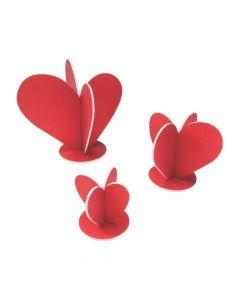 3D Heart Centerpieces