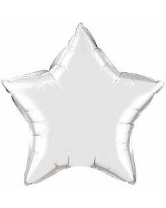 4 Inch Foil Silver Star Plain Foil