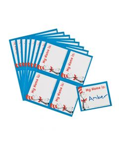 40 Dr. Seuss the Cat in the Hat Name Tags