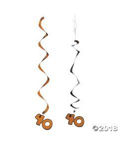 40th Birthday Hanging Swirl Decorations