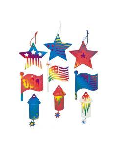 4th of July Magic Color Scratch Ornaments