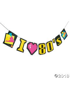 80S Party Garland