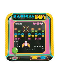 80's Party Paper Dinner Plates