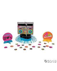 80S Party Table Decorating Kit