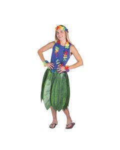 Adult's Banana Leaf Hula Skirt and Leis Set