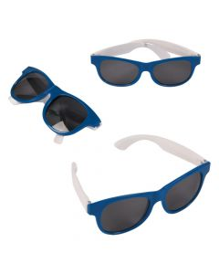 Adult's Blue and White Two-Tone Sunglasses