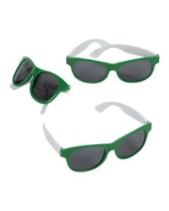 Adult's Green and White Two-Tone Sunglasses
