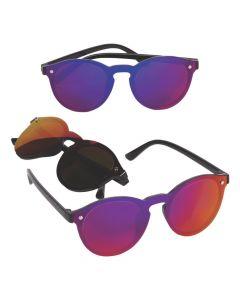 Adult's Round Mirrored Sunglasses