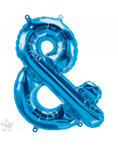 Ampersand Blue Air Filled 41cm Foil Balloon