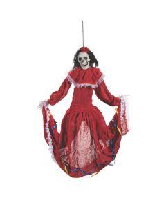 Animated Dancing Fiesta Beauty Skeleton Hanging Decoration