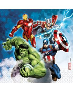 Avengers Fight Paper Plates - Eco Friendly