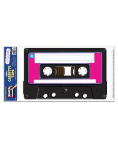Awesome 80s Cassette Tape Wall Cling