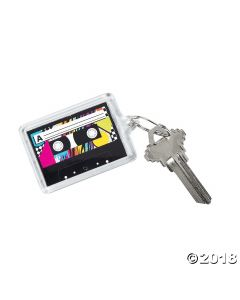 Awesome 80S Theme Picture Frame Keychains