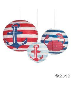 Baby Shower Nautical Hanging Paper Lanterns