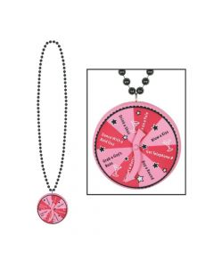 Bachelorette Beaded Necklace with Spinner Medallion