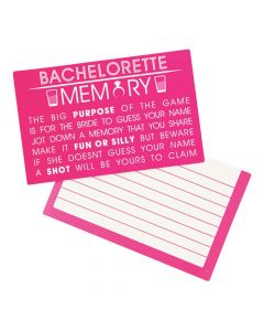 Bachelorette Party Memory Game