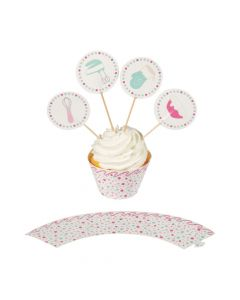 Baking Party Cupcake Wrappers and Picks