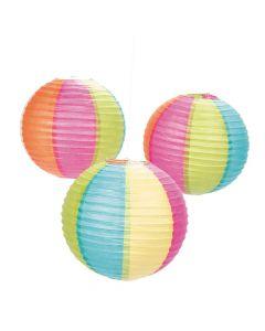 Beach Ball Hanging Paper Lanterns