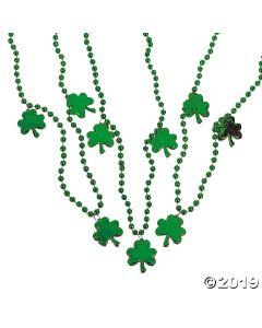 Bead Necklaces with Shamrocks
