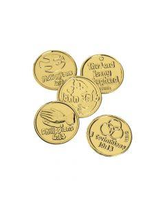Bible Verse Goldtone Coins