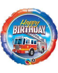 Birthday Fire Truck Foil Balloon