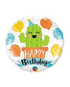Birthday Party Cactus Mylar Balloon