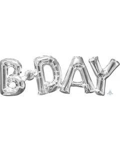 Birthday Silver Phrase Balloon