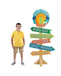 Birthday Surf's Up Directional Sign Cardboard Stand-Up