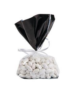 Black Banded Cellophane Bags