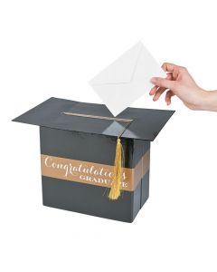 Black and Gold Graduation Card Box