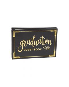Black and Gold Graduation Guest Book