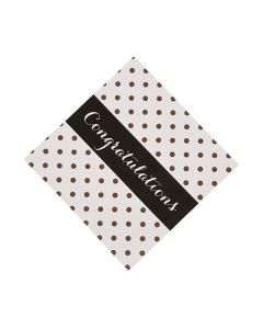 Black and Gold Graduation Luncheon Napkins