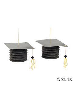Black Graduation Cap Hanging Paper Lanterns