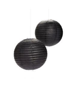 Black Hanging Paper Lanterns