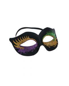 Black Masks with Glitter Bursts