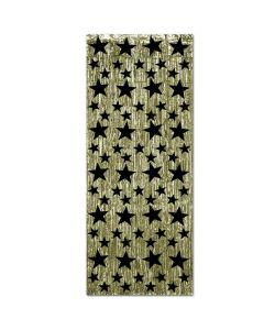 Black Star Gold Fringe Door Curtain