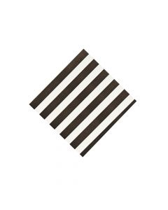 Black Striped Beverage Napkins