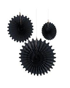 Black Tissue Hanging Fans
