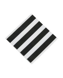 Black and White Striped Luncheon Napkins