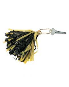 Black and Yellow Mini Pom-Pom Keychains