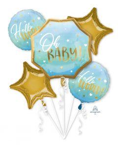 Blue Baby Boy Balloon Bouquet