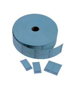 Blue Blank Double Roll Tickets